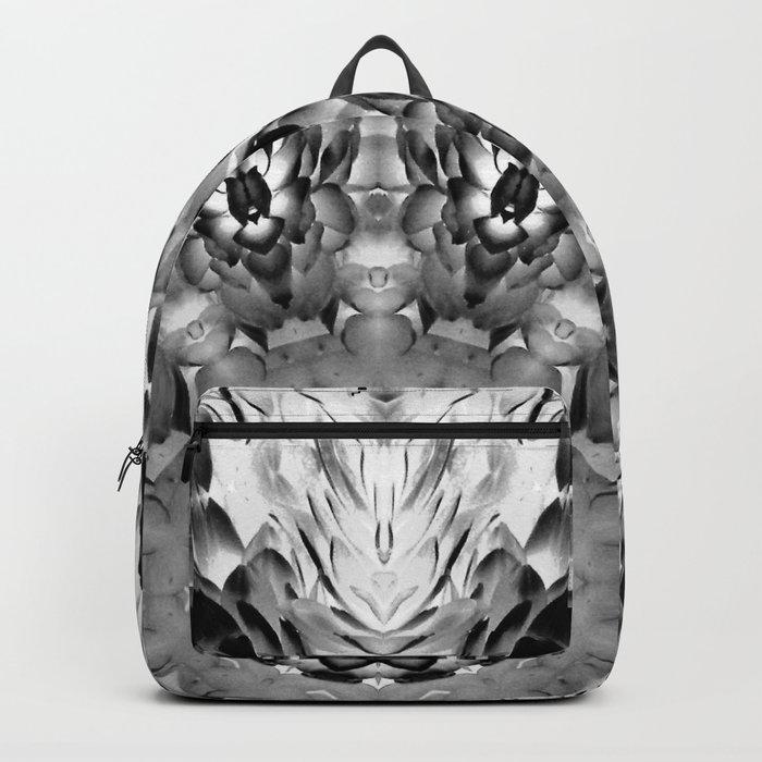 Blac White Mandala Abstract Backpack