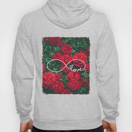 Red Roses Photography & Infinity Love Sign Hoody