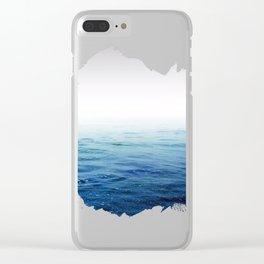 Calm Blue Ocean Clear iPhone Case