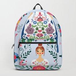 Fairy Tale Folk Art Garden Backpack