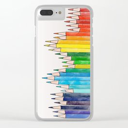 colored pencils Clear iPhone Case