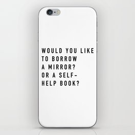 Borrow a Mirror iPhone Skin