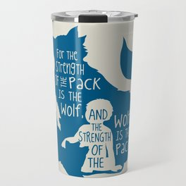 Strength of the Pack - Wolf and Child Travel Mug