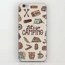 Lets Go Camping iPhone Skin