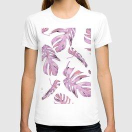 Monstera Pattern Pink #society6 #buyart T-shirt