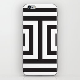 Black Greek Stripes iPhone Skin