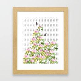 Rose buds Framed Art Print
