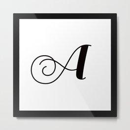 Alphabet Pillows Metal Print