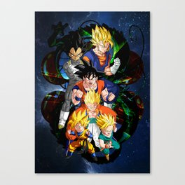 Dragon ball - The Fusions Canvas Print