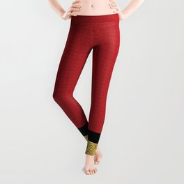 Red and Gold Leggings