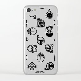 Classic StarWars Icons Clear iPhone Case