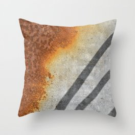 Rust Abstract I Throw Pillow