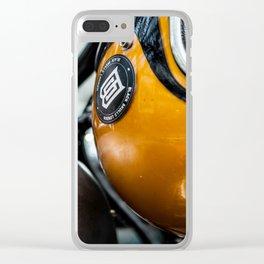 Yellow Helmet Clear iPhone Case