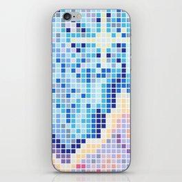 Pixelated Nebula Blue iPhone Skin