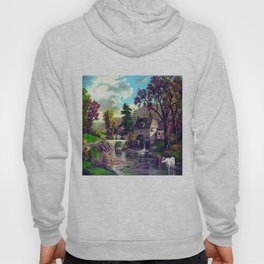 The Old Mill At The Creek Vintage Art Hoody