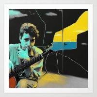 bob dylan Art Prints featuring Bob Dylan by Zmudartist
