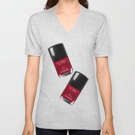 Nail Polish Rouge Rubis Unisex V-Neck
