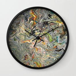 Abstract Oil Painting 25 Wall Clock