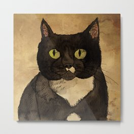 Black Cat Metal Print