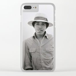 obama hype Clear iPhone Case
