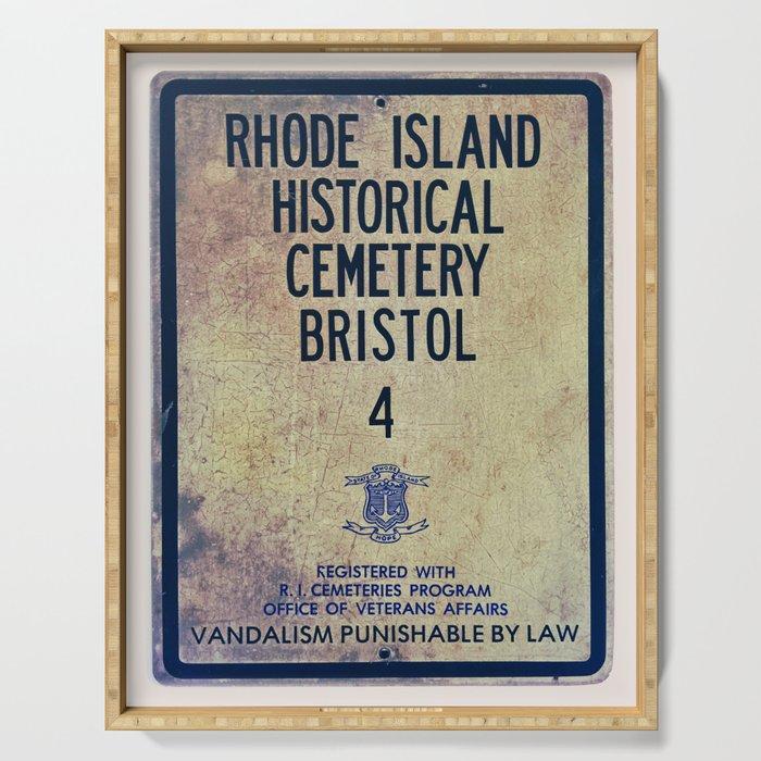 Historical Cemetery Bristol, RI Serving Tray