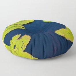 Dark Blue Pond by Teresa Thompson Floor Pillow