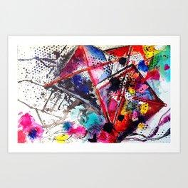A Windy Day  Art Print