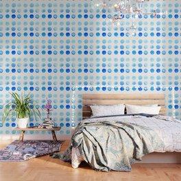 Calming Blue Watercolor Circles Wallpaper