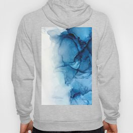 Blue Tides - Alcohol Ink Painting Hoody