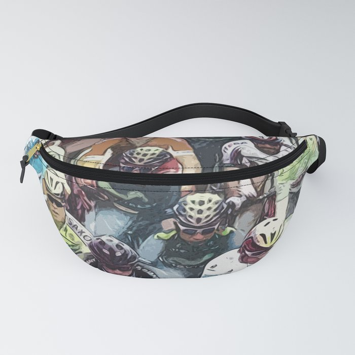 PELOTON / Abstract fan art / Cycling heroes series #01 Fanny Pack