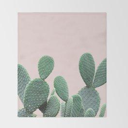 Cactus on Blush Throw Blanket