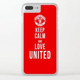 Keep Calm Love United Clear iPhone Case