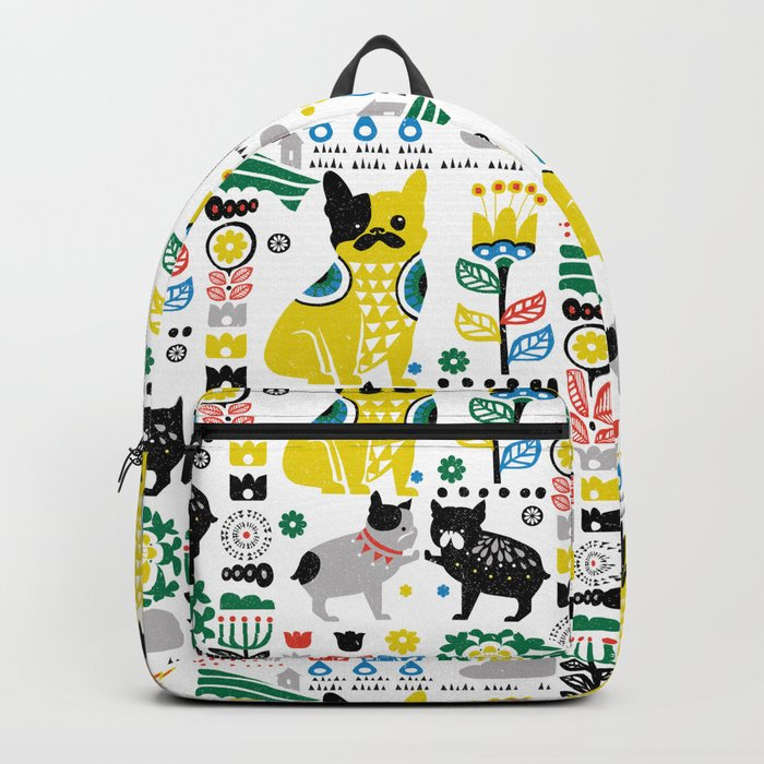 Scandinavian French Bulldog Backpack