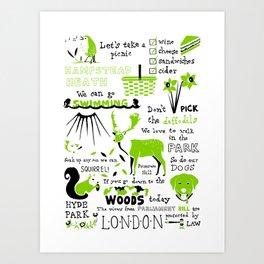 London Parks Art Print