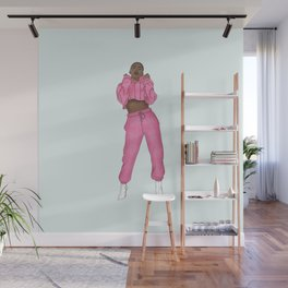 The Cool Chick Fashion IIlustration Wall Mural