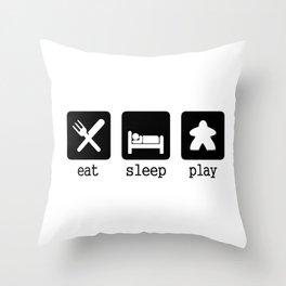 Eat, sleep, play Throw Pillow