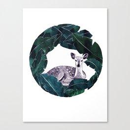 Deer circle painting Canvas Print
