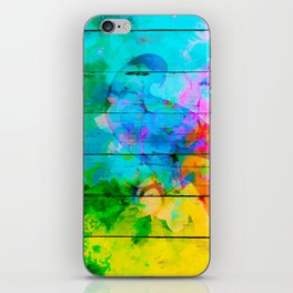 Shadow of a parrot on a hot day iPhone Skin