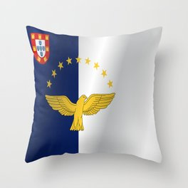 Flag of Azores Throw Pillow