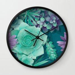Succulent Love I Wall Clock