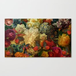 """""""Baroque Spring of Flowers and Butterflies"""" Canvas Print"""