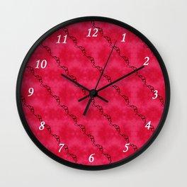 Red Ribbon Wall Clock