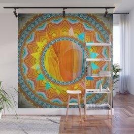 Moon and Sun Mandala Design Wall Mural