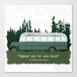 Into The Wild - Magic Bus Canvas Print