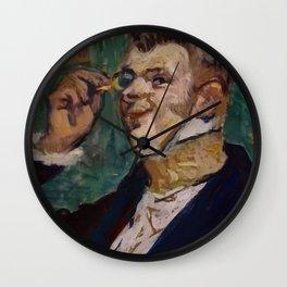 """Henri de Toulouse-Lautrec """"Henri Samary (as Raoul de Vaubert...)"""" Wall Clock"""