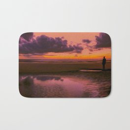 Another place at sunset Bath Mat