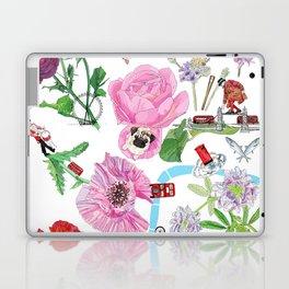 London in Bloom - Flowers and transportation that make London Laptop & iPad Skin
