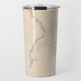 Vintage Map of Tampa Bay FL (1855) Travel Mug