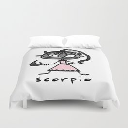 cuteness sprinkled with a dash of scary, because...well, scorpio Duvet Cover