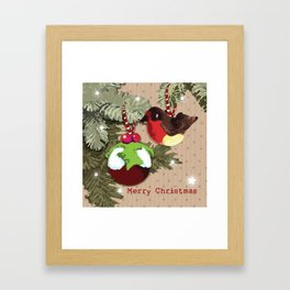 The Christmas Pudding Collection  Framed Art Print